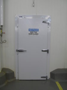 Traditonal infit cold storage door